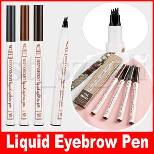 Sexy Secret Eye Makeup Liquid Eyebrow Pen Eyebrow Enhancer 4 colores Four Head Eyebrow Enhancer Makeup