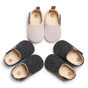 LANSHITINA Boy tela escocesa de los zapatos de bebé de los botines recién nacidos Sole clásico piso 0-18 Meses suave infantil Marca cuna primeros caminante C-447 CY200512