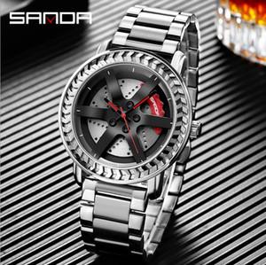 Sanda new watch men's watch fashion wheel student Quartz watch steel strap watches