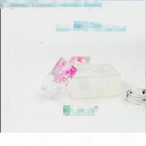 Vente en gros 1 pièce bricolage clair moule en silicone pour anneau de résine époxy avec des bijoux faits à la main vraie fleur Outils Equipements