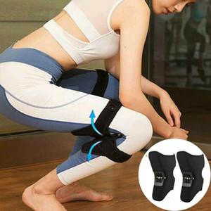 Transpirable antideslizantes Pad Conjunto de Apoyo de rodilla Ascensor rodilleras Cuidado Potente rebote Booster primavera Fuerza rodilla