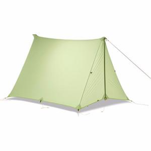 Do CREDO CHAMA 1-2 Pessoas Oudoor Ultraleve Camping Tent única pessoa Professional 20D Nylon Silicon Coating sem haste Tent