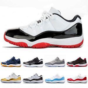 2020 black cat basketball shoes 11 low white bred 11s men Retro sneakers cool grey gamma legend blue black cement UNC concord space jam