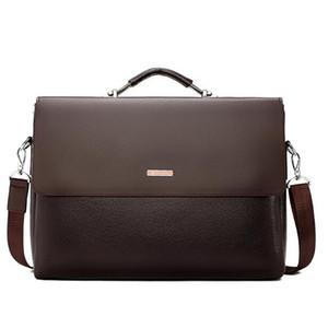 Homens Bolsas de Negócios Briefcase Mensageiro Bolsas Masculino Laptop Bag Office Black Brown bolsas de couro Homens Briefcase