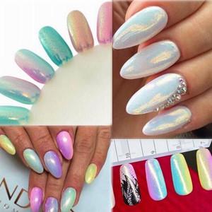 Hining Nail Art Spiegel-Puder-Pigment Mermaid Glitters Schönheit Maniküre