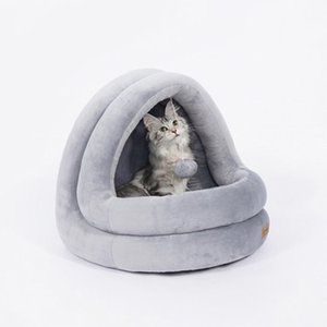 Cat Nest Four Seasons Universal Closed Cat Supplies Washable Teddy Kennel Net Red Pet House Cat Bed Villa