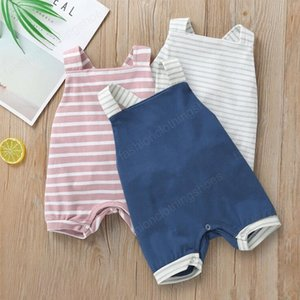 Baby Rompers Designer Clothes Boys Girls Striped Suspender Jumpsuits Infant Summer Sleeveless Onesies Toddler Soft Cotton Clothes