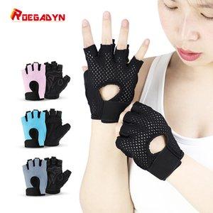 Силиконовые нескользящие дышащие цветные перчатки с половиной пальца фитнес-тяжелая атлетика велосипедные перчатки