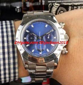 Мода мужские наручные часы 40 мм 116509 116500 116520 116506 серебристый черный браслет из нержавеющей стали автоматические роскошные смотрители Бесплатная доставка