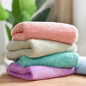 Mano Beroyal Nuovo 2019 tovagliolo di mano 34x75cm Solid microfibra Viso peluche Asciugamani Bagni assorbente eccellente dei capelli Asciugamani