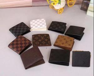 Мужчины натуральная кожа роскошный бумажник случайные короткие дизайнер карты держатель карман портмоне кошельки для мужчин бесплатная доставка