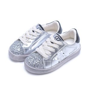 Kids Shoes School PU Tennis Shoes for Girls Lovely Princess Casual Shoes Children Running Sneakers Fashion Sequins Bling Star