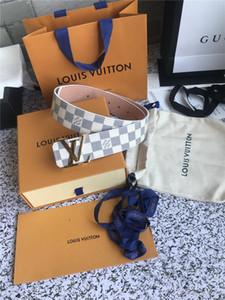 2019 com ouro Box Mens Belts Luxo Buckle cintos de couro genuíno para Belts Homens Designers Mens Belt Mulheres de cintura frete grátis