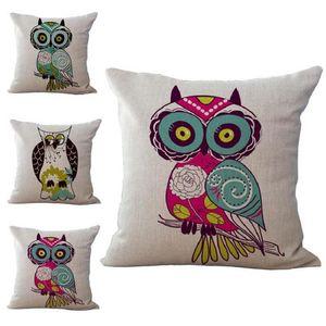 tampa bonito Almofada Pássaro Pillow Coruja lençóis de algodão Lance fronhas 7 cores personalizadas gratuito 45x45cm 100g