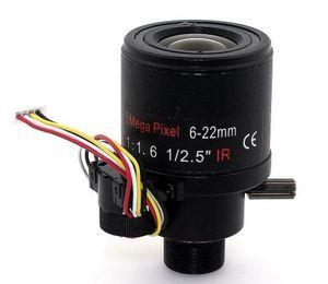 F1.6 1 / 2.5inch 5MP Varifocal messa a fuoco automatica lente 6-22mm ir M12 monte cctv lente lente Auto zoom ottico