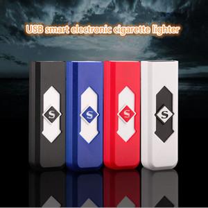 Cigarrillos Cigarrillos USB de la batería recargable de cigarrillos a prueba de viento encendedor electrónico electrónica 600pcs Encendedores CCA11665