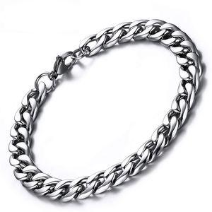 oulai777 chain on hand for Wholesale stainless steel mens bracelet 2020 cuban link bracelet men accessories fasion jewellery men