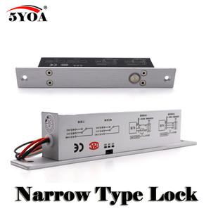 Porta Estreita Parafuso Elétrico Mortise Lock para Controle de Acesso Fechadura Da Porta DC 12 V de Aço Inoxidável Fail Safe Secure NC NO Eletrônico
