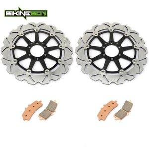 BIKINGBOY Front Brake Discs Disks Rotors Pads For Aprilia RSV4 1000 R 2009-2020 RSV4 1000 RR 15-16 SE Factory 09-16
