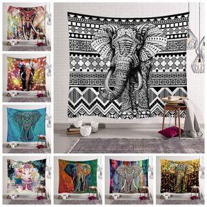 12 Styles Bohemian Mandala Tapestry Strandtuch Elephant Printed Yoga-Matten Polyester Badetuch Hauptdekoration Außen Pads CCA11528 30pcs