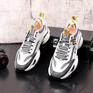 HOT SELL mesh breathable Men's loafers casual flats mesh men flats Hip hop fashion platform shoes