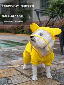 Pet Dog Cat Raincoat Spray Proof Clothes Trans Patch Teddy Bichon Four Feet Garments Raining Days Outdoor