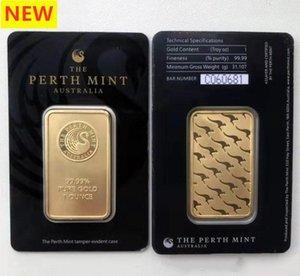 Australien Perth Mint 999 Fein 24k vergoldet bar Münzen Qualität Goldbarren Metall-Handwerk Kollektionen Souvenirs Business-Geschenke