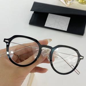 أحدث Superlight D-PEAR01 الصغيرة جولة للجنسين النظارات الإطار 49-22-145 بلانك fullrim + سليم غير القابل للصدأ سلك للوصفة طبية حالة fullrim
