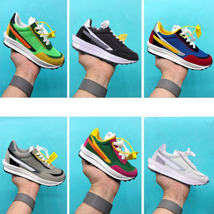 Big Chaussures enfants Nike Sacai x LDV Waffle Pack Chaussures de course Pine Green Triple Noir Vert Gusto Sacai LDV Gaufre Childrens Girls Youth Sneaker