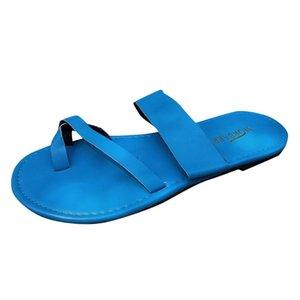 Women Slippers T-Strap Cork Summer Shoes Footbed Platform Flat Sandals Female Plus Size Flip Flop Ladies Soft Bottom Slippers