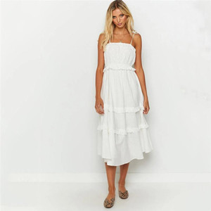 Manches cou Slash Robes Femmes Vêtements Designer Femmes lambrissé Midi Robes Mode Robes Couleur Naturel