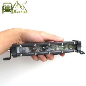 Xuanba Super Slim 6D Lens 8'' 14'' 20'' 26'' 32 Inch Led Bar Offroad Light for Auto Car 12V 24V ATV 4x4 Off road Work Lights Driving Lamps