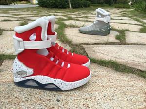 2019 Nuovo Progettista Air mag torna al futuro di marca di Modo Scarpe da ginnastica mens Delle Donne di Lusso Scarpe da corsa di illuminazione a LED Outdoor Scarpe da ginnastica con la scatola
