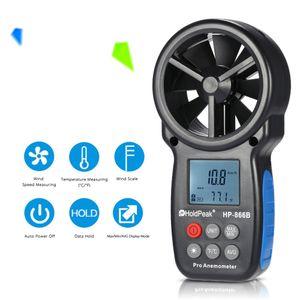 Portable Digital Anemometer LCD Handheld Air Wind Speed Velocity Meter Measure Portable Smart Temperature Windmeter