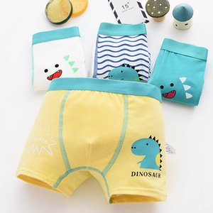 Cute 2019 Toddler Boys Boxer Underwear Kids Cartoon Dinosaur Shorts Panties Soft Cotton Giraffe Comfortable Underpants 4Pcs pack CX200530