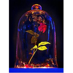 Red Rose Bottle 5D Diamond Round Rhinestone Embroidery Painting Animal Birds DIY Cross Stitch Kit Mosaic Draw Home Decor Art Craft Gift