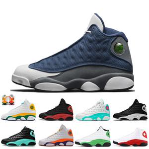 Nike Air Jordan Retro 13 13s superior Zapatillas de baloncesto Clot Sepia Stone Lakers Flint Cap and Gown Atmosphere Grey Chicago Retro Mens Trainers Sport Sneakers