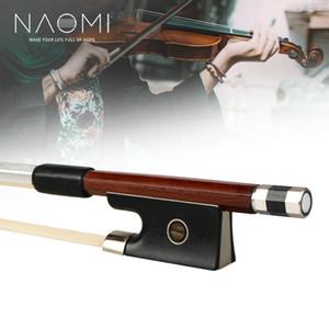 NAOMI 4/4 archet de violon Pernambouc octogonal Bâton Seep gainé de cuir ébène Frog Bow rapide Response bien l'équilibre
