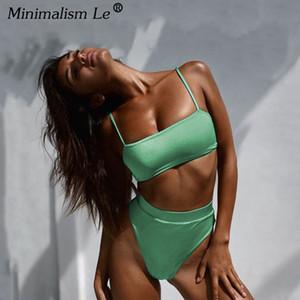 Minimalizm Le Katı Yüksek Bel Bikini Seksi Leopar Mayo Kadınlar Yılan Baskı Mayo 2019 Yeni Mayo Yaz Beachwear