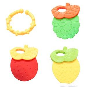 4pcs / set bébé Mitten fruit Mitts Teething Gant forme de vie marine Tétines jouets cadeaux Soins infirmiers du nouveau-né mitaines Teether