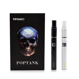 Новые Yesgo Poptank сухой травы воск испаритель электронная сигарета 650mah батарея керамическая катушка испаритель ручка e сигареты пар высокое качество