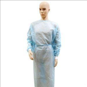 DHL Schiff vorrätig Isolation Kleidung Hazmat Anzug Cuff Frenulum Schutzkleidung Antistaic Einwegkittel Schutzanzug Produkte