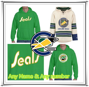 Custom Vintage California Golden Seals Eishockey 1 GARY SMITH 7 Reggie Leach 27 Gilles Meloche Oakland Seals Genäht Hoodies Trikots Großhandel