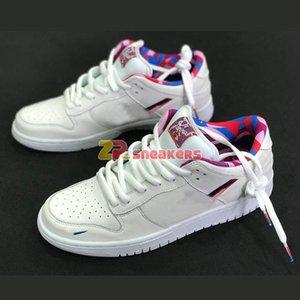 2020 Nueva Parra x zapatos para hombre SB Dunk Low para mujer de los niños que andan en monopatín rosado blanco del diseñador de Rose para niños Sport zapatillas de deporte CN4504-100 EUR36-45