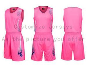 Пользовательские любое имя Любые рубашки номер Мужчины Женщины Lady Молодежные Дети Мальчики Баскетбол Трикотажные изделия Спорт, как фотографии вы предлагаете B006
