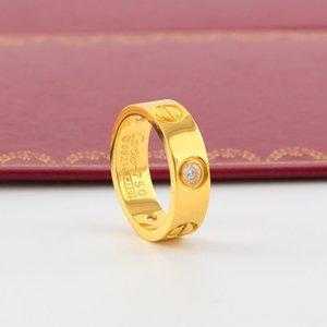 Mariage en acier de titane Marque amateurs de créateurs Anneau pour les femmes Bagues de fiançailles luxe Zircon bijoux pour hommes Cadeaux Accessoires de mode