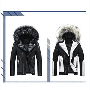 Mens Designer Jackets Youth Fur Collar Detachable Hooded Jacket Mens Plus Size Cotton Clothing Contrast Color Coat for Boys 2020 New Style