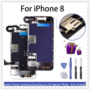 Grade A LCD replacement for iPhone 8 Plus Complete Screen Replacement 3D Touch Digitizer Assembly with Front Camera+Earspeaker+Tools