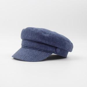 Stylisme Lin Vintage Coton Chapeau Beret Cabbie Newsboy Cap Chapeau de soleil pour hommes et femmes