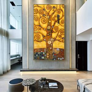Gustav Klimt Tree Of Life Canvas Art paitnings Classical pintura famosa Gustav Klimt parede Imagem para sala de estar 190929